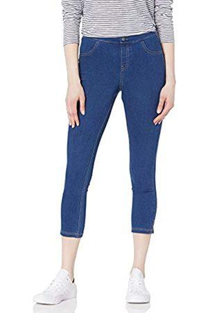 HUE Damen High Waist Jeans - Damen Side Vent Denim Mid-Rise Capri Strumpfwaren