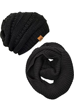 Wrapables Damen Hüte - Winter Warm Knitted Infinity Scarf and Beanie Hat Set