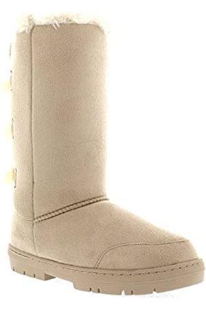 Holly Damen Winterstiefel - Damen Stiefel mit 3 Schleifen, hoch, klassisch, wasserdicht, für den Winter, Regen und Schnee