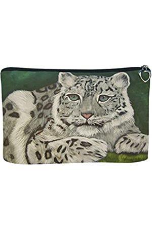 Salvador Kitti Kosmetiktasche mit Reißverschluss, Make-up-Tasche – von meinen Originalgemälden – Tiere – tragbare Kunst mit einem Zweck – Kosmetiktaschen für Damen klein Make-up grün