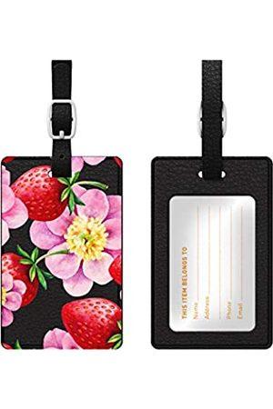 OTM Essentials Reisetaschen - Erdbeere Blumen Leder Bag Tag - OP-BTV1BM-Z010A