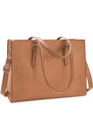 NUBILY Damen Handtaschen - Laptoptasche für Damen Wasserdicht Leicht Leder 15