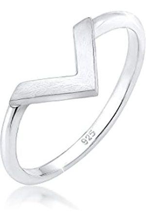 Elli Damen Ringe - Ring Damen V-Form Basic Trend aus 925 Sterling