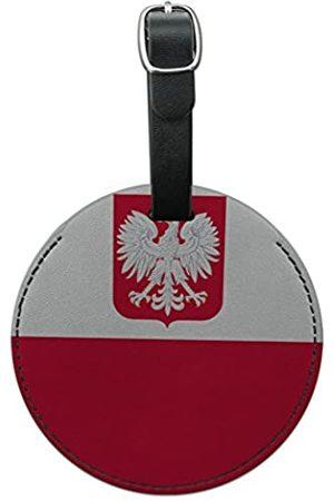 Graphics and More Graphics & More Gepäckanhänger Polen mit Wappen Nationalflagge, rund