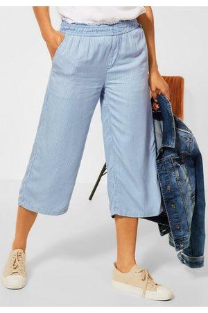 STREET ONE Damen Baggy & Boyfriend - Loose-fit-Jeans mit Streifen