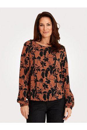 Mona Damen Blusen - Schlupfbluse mit elastischem Saumabschluss