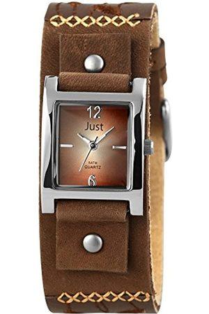 Just Watches Damen Uhren - Damen-Armbanduhr Analog Quarz Leder 48-S10626-BR
