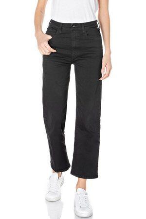 Replay Damen Culotten - 7/8-Jeans »Reyne-Rose Label« 5-Pocket im Culotte-Style & mit Rose Label Patch