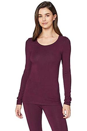 IRIS & LILLY Damen Longsleeves - Amazon-Marke: Damen Dünnes Thermo-Langarmshirt, S