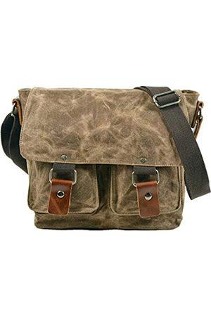 Berchirly Herren Umhängetaschen - Retro-Tasche für Herren, gewachst, wasserdicht, Schultertasche aus Segeltuch, Crossbody-Taschen