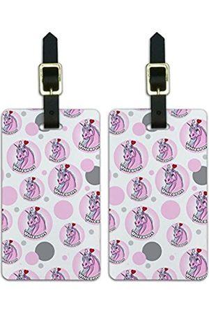 Graphics and More Reisetaschen - Graphics & More Gepäckanhänger für Koffer, Handgepäck, Aufschrift I Love Heart-Unicorns