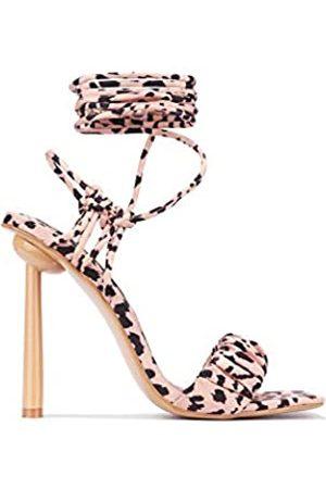 Sandalen mit NIETEN besetzt SCHWARZ Italy Fashion High Heels
