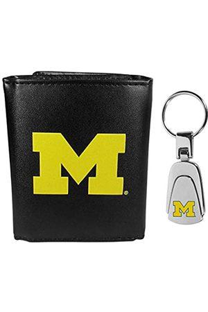 Siskiyou Sports NCAA Michigan Wolverines Herren-Geldbörse aus Leder, dreifach faltbar, mit Stahl-Schlüsselanhänger