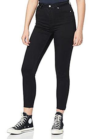 NA-KD Damen High Waist Jeans - Damen Skinny High Waist Open Hem Jeans
