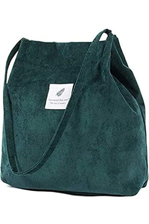 TCHH-DayUp Damen Shopper - Corduroy Tote Bag Women Shoulder Handbags Big Capacity Shopping Bag for Work Beach Lunch Travel Easy to Fold Reinforced Handles