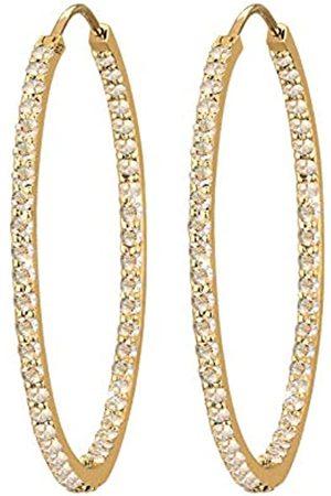 Elli Damen Ohrringe - PREMIUM Ohrringe Damen PREMIUM Ohrringe Creolen mit Kristallen in 925 Sterling Silber