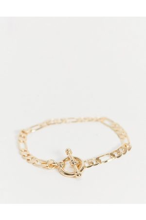Chained & Able – Figaro – Goldfarbenes Kettenarmband mit T-Steg-Design