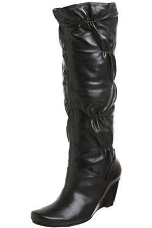 Kenneth Cole Damen Stiefel - Forever Damen Stiefel mit Keilabsatz, (schwarzes Leder)