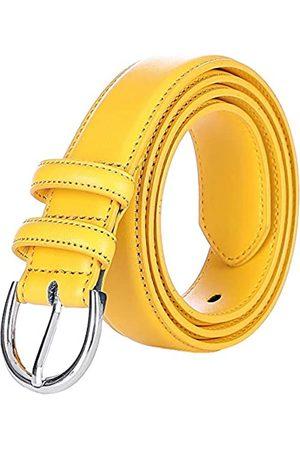 Falari Damen-Gürtel aus echtem Leder, modisch, mit Dornschnalle