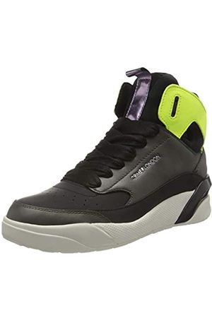 Crime london Damen Kube Sneaker, Black