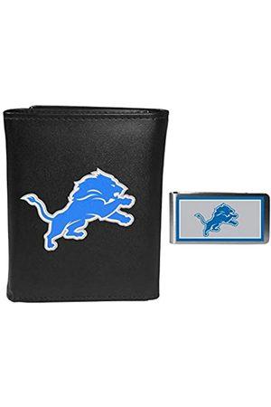Siskiyou Sports Herren Geldbörsen & Etuis - NFL Detroit Lions Herren-Geldbörse, Leder, dreifach faltbar, mit Geldclip
