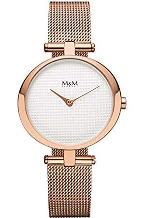 M&M Damen Uhren - DamenAnalogQuarzUhrmitEdelstahlArmbandM11931-991