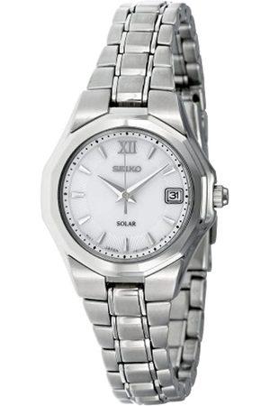 Seiko Damen-Armbanduhr XS Analog Quarz Edelstahl SUT053P1