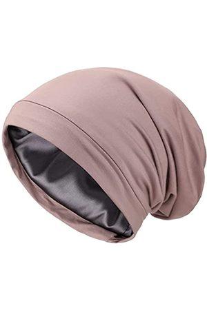 Lvaiz Herren Hüte - Schlafmütze aus Satin mit Seidenfutter, V2.0, elastisch, Satin, für die Motorhaube, Slouchy, Nachtmütze, Schädelmütze, Patientenpflege
