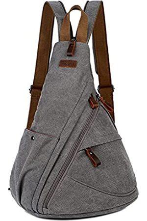 Baosha Canvas Sling Bag Crossbody Schultertasche Brusttasche Reise Wandern Daypack für Damen und Herren XB-10