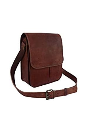 Leather Castle Umhängetaschen - Vintage Craft Unisex Umhängetasche aus echtem Leder