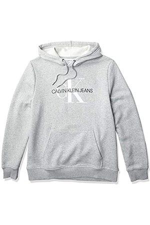 Calvin Klein Herren Sweatshirts - Herren Fleece Hoodie Logo Pop Over Sweatshirt Hemd