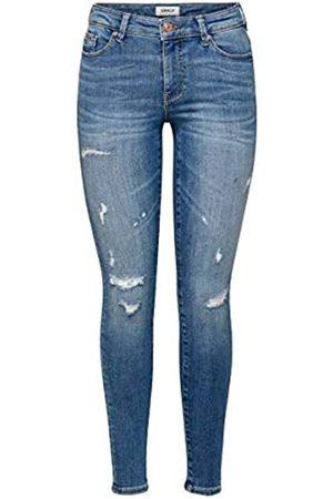 ONLY Damen Skinny - Female Skinny Fit Jeans ONLCarmen Life Reg 2532Medium Blue Denim