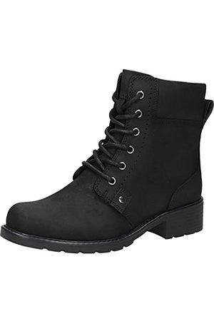 Clarks Damen Stiefeletten - Damen Orinoco Spice Kurzschaft Stiefel, (Black Leather)