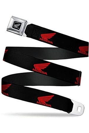 Buckle-Down Herren Gürtel - Sicherheitsgurt – Honda Motorrad Logo schwarz/rot – 2