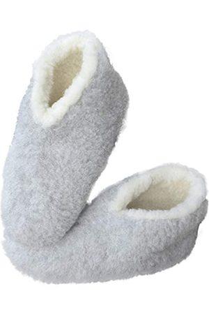 Sheep by the Sea Men's Women's Unisex Wool Slippers - Skiper, US Size 8-9