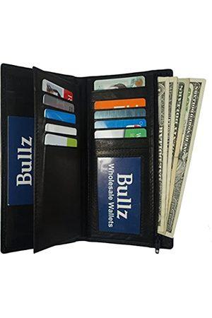 Bullz Geldbörsen & Etuis - Genuine Leather Checkbook Cover Wallet Organizer with Credit Card Holder