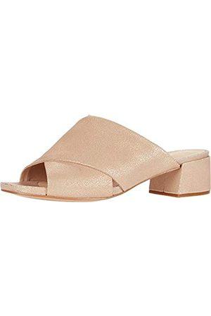 Clarks Damen Sandalen - Damen Sheer 35 Mule Sandalen mit Absatz, Goldfarbenes Metallic-Leder