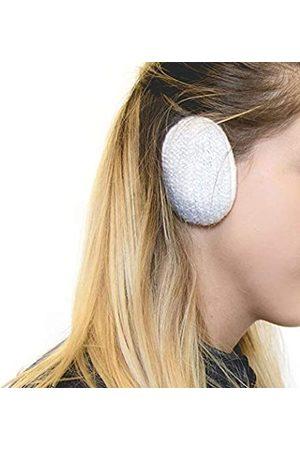 SPRIGS Mohair Earbags Bandless Ohrwärmer Ohrenschützer mit Thinsulate für Damen & Herren - Weiß - Small