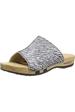 Woody Damen Anja Pantoletten, Mehrfarbig (Zebra 095)