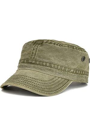 VOBOOM Herren Hüte - Kadettenmütze, gewaschene Baumwolle, einzigartiges Design, Vintage-Stil