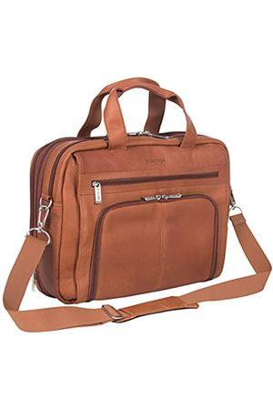 Kenneth Cole Laptop- & Aktentaschen - Out of The Bag Portfolio/Computertasche aus kolumbianischem Leder mit doppeltem Fach und Reißverschluss, passend für die meisten 15