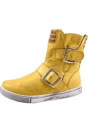 Andrea Conti Damen Cowboy & Bikerboots - Damen 0346833 Biker Boots, (Ocker/ 475)