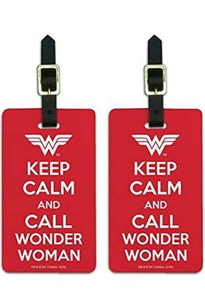 Graphics and More Damen Reisetaschen - Gepäckanhänger mit Aufschrift Wonder Woman Keep Calm and Call