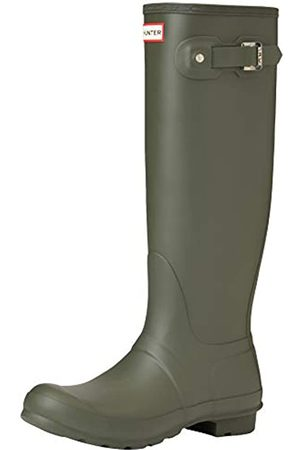Hunter Damen Gummistiefel - Damen High Wellington Boots Gummistiefel, (Dark Green/dov)
