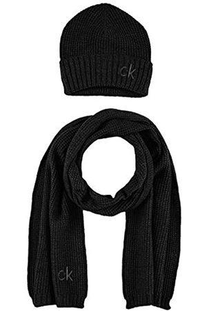 Calvin Klein Herren Knitted Beanie + Scarf 40X180CM Winter-Zubehr-Set