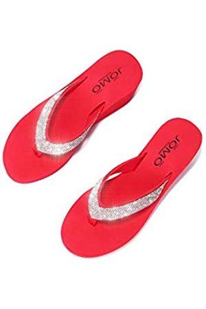 Cape Robbin Evo T-Strap Plateau Flips Flops Sandalen für Damen, flache Slides Damen Pantoletten Slip On Schuhe