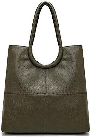 KAIYUAN Elegante Damen-Handtasche aus Kunstleder, mit zwei Fächern, 35,6 cm (14 Zoll) Laptop, Business-Tasche