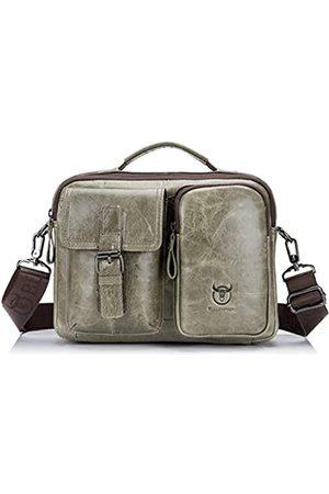 BULLCAPTAIN Herren Umhängetaschen - ZB-36 Messenger-Tasche für Herren, aus echtem Leder, multifunktional, mit Tragegriff