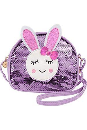 LEOSSTELL Süßes Kaninchen-Cartoon-Print Crossbody Geldbörse Pailletten Schultertasche