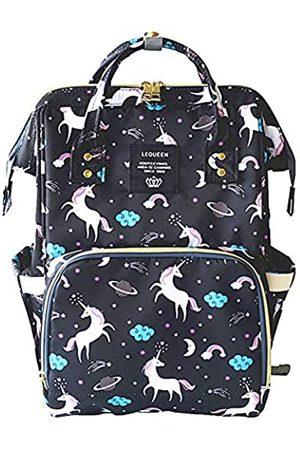 QIXINGHU Wickeltaschen - Einhorn Multifunktions-Wickeltasche für Babypflege Reiserucksack breit offen Windeltaschen Handtaschen leicht große Kapazität